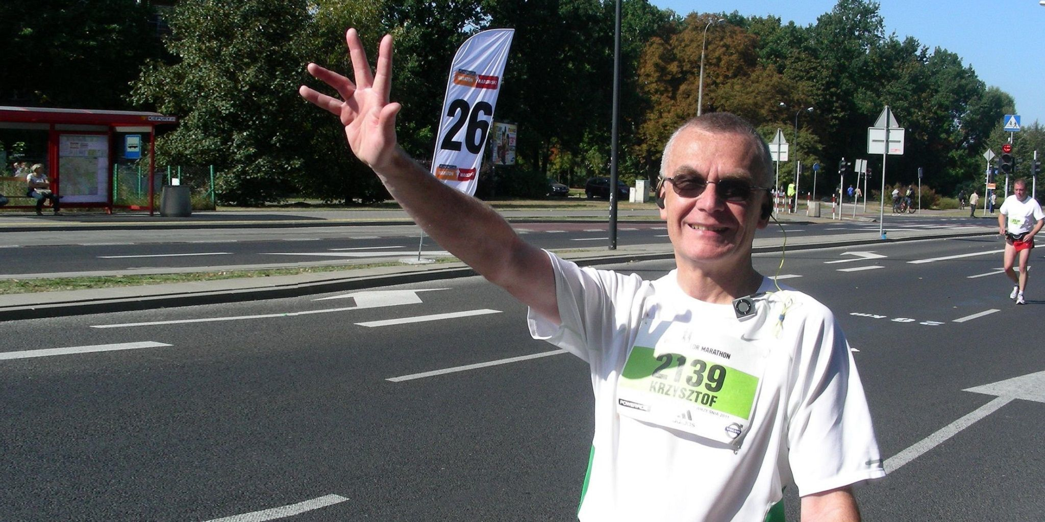 Krzysztof na maratonie