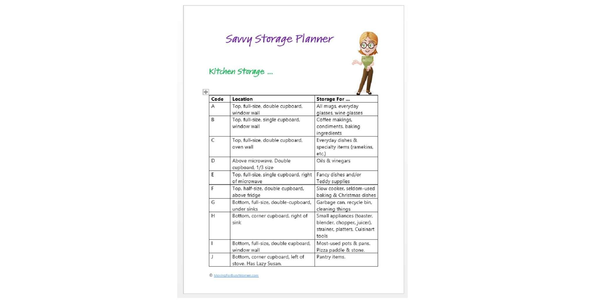 Save Storage Planner
